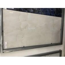 Керамогранит, белый оникс, Индийский, полированный  размер 60*120 см