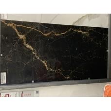 Forest Gold, черный полированный, под мрамор,  600х1200 мм, Индия