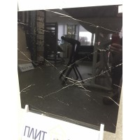 черный мрамор полированный 600х600мм